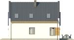 Projekt domu Pionier 2 - elewacja boczna 1