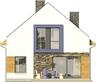 Projekt domu Pionier 2 - elewacja tylna