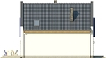 Projekt domu Pionier 2 - elewacja boczna 2