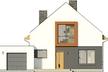 Projekt domu Pionier 3 - elewacja przednia