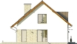 Projekt domu Tabasco 3 - elewacja boczna 1
