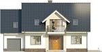 Projekt domu Pryzmat 2 - elewacja przednia