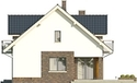 Projekt domu Pryzmat 2 - elewacja boczna 1
