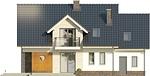 Projekt domu Pryzmat 2 - elewacja tylna