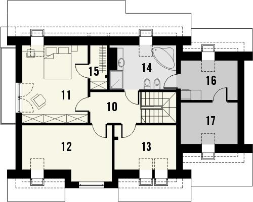 Projekt domu Marzenie 2 - rzut poddasza