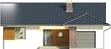 Projekt domu Juka - elewacja przednia