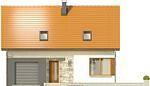 Projekt domu Muno - elewacja przednia