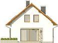 Projekt domu Muno - elewacja boczna 1