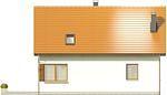 Projekt domu Muno - elewacja tylna