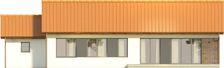 Projekt domu Danta - elewacja tylna