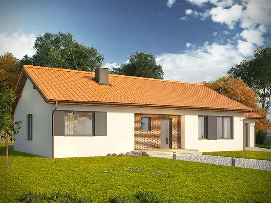 Projekt domu Danta - widok 1