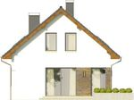Projekt domu Asana - elewacja boczna 1