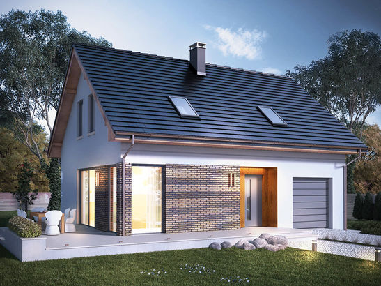 Projekt domu Asana - widok 3