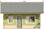 Projekt domu Domek 1 - elewacja przednia