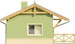 Projekt domu Domek 1 - elewacja boczna 1