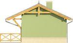 Projekt domu Domek 1 - elewacja boczna 2