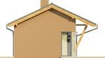 Projekt domu Domek 2 - elewacja boczna 1