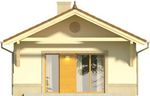 Projekt domu Domek 4 - elewacja tylna