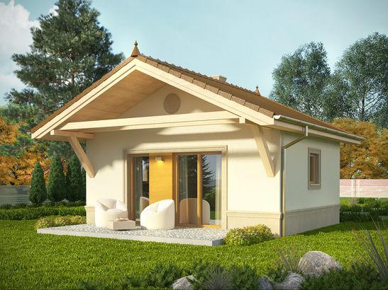 Projekt domu Domek 4 - widok 1