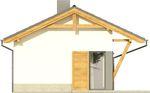 Projekt domu Domek 5 - elewacja boczna 1
