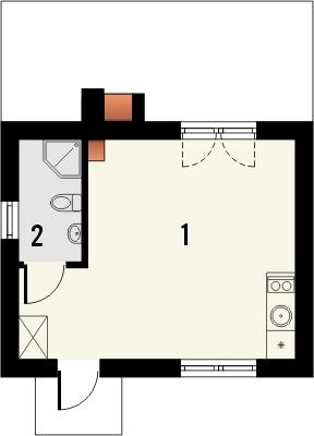 Projekt domu Domek 7 - rzut parteru