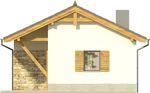 Projekt domu Domek 9 - elewacja tylna