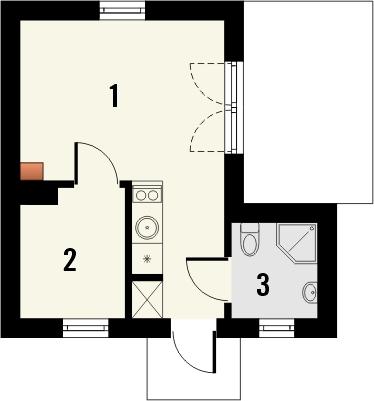 Projekt domu Domek 9 - rzut parteru