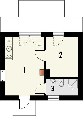 Projekt domu Domek 10 - rzut parteru