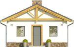 Projekt domu Domek 11 - elewacja przednia