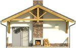 Projekt domu Domek 11 - elewacja tylna