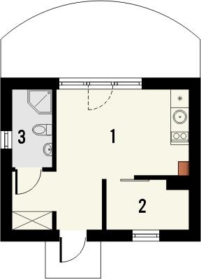 Projekt domu Domek 12 - rzut parteru
