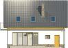 Projekt domu Tetris - elewacja tylna