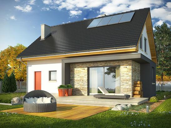 Projekt domu Iskra 3 - widok 2
