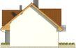Projekt domu Riva - elewacja boczna 2