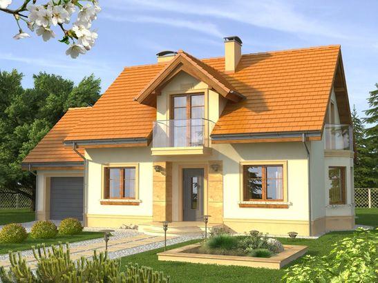 Projekt domu Aroma - widok 1