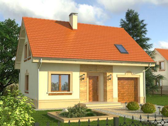 Projekt domu Calvados - widok 1
