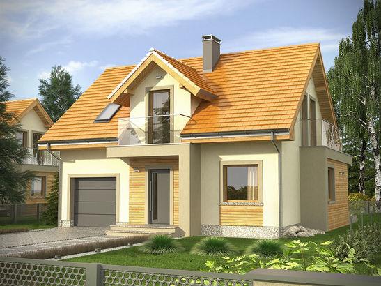 Projekt domu Murano - widok 1