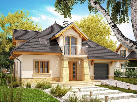 Projekt domu Rosa  - widok 2