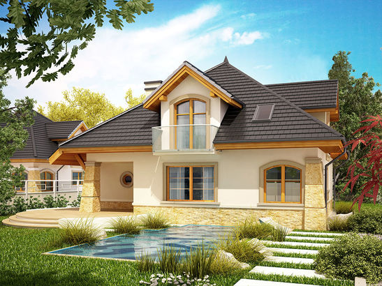Projekt domu Rosa  - widok 3