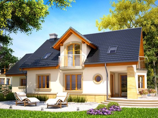 Projekt domu Szmaragd - widok 3