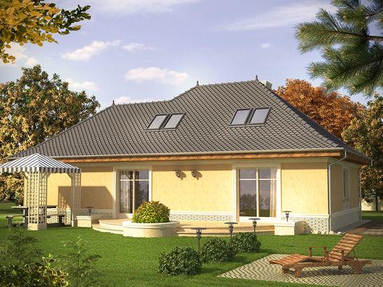 Projekt domu Patyna - widok 2