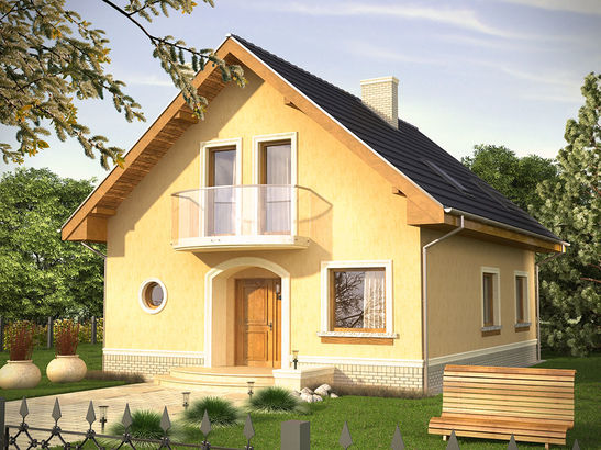 Projekt domu Portal - widok 1