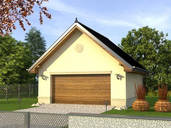 Projekt domu Garaż 5 - widok 1