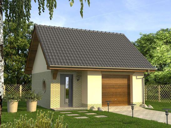 Projekt domu Garaż 8 - widok 1