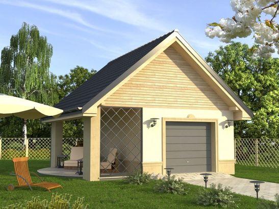 Projekt domu Garaż 11 - widok 1