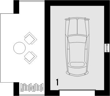Projekt domu Garaż 12 - rzut parteru