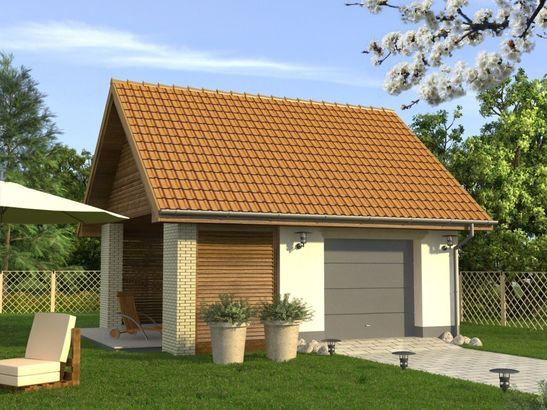 Projekt domu Garaż 12 - widok 1