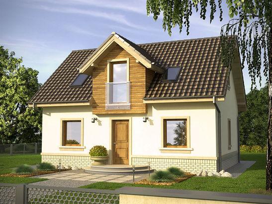 Projekt domu Adept - widok 1