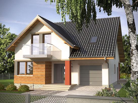 Projekt domu Atencja - widok 1
