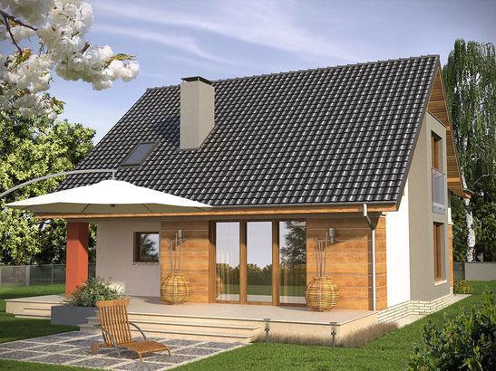 Projekt domu Atencja - widok 2